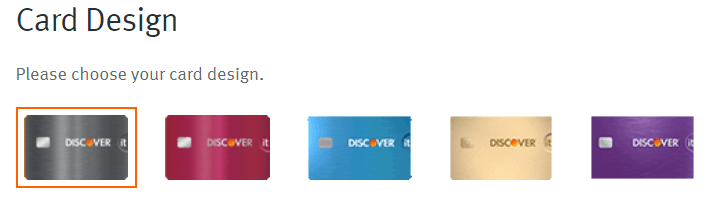Discover It Secured Card Colors